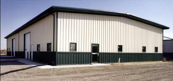 Finished The Steel Building Store commercial metal building.